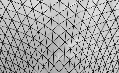 Beautiful geometric roof structure.