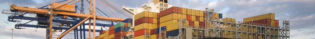 Container ship in African port