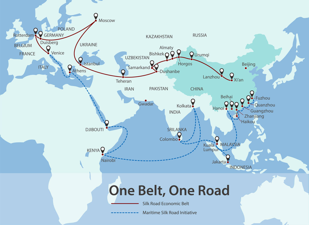 Silk sky road is part of One Belt One Road initiative